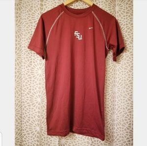 Nike FSU garnet short sleeve athletic shirt Large
